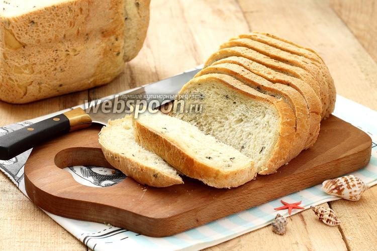 Фото Хлеб с морскими водорослями в хлебопечке