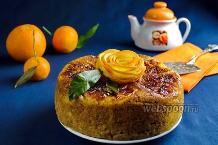 Кекс с карамельными апельсинами в мультиварке