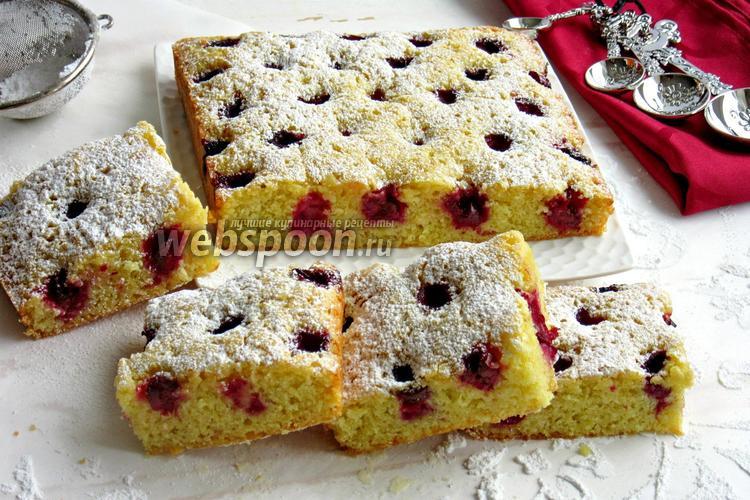 Рецепт Вишнёво-миндальный пирог