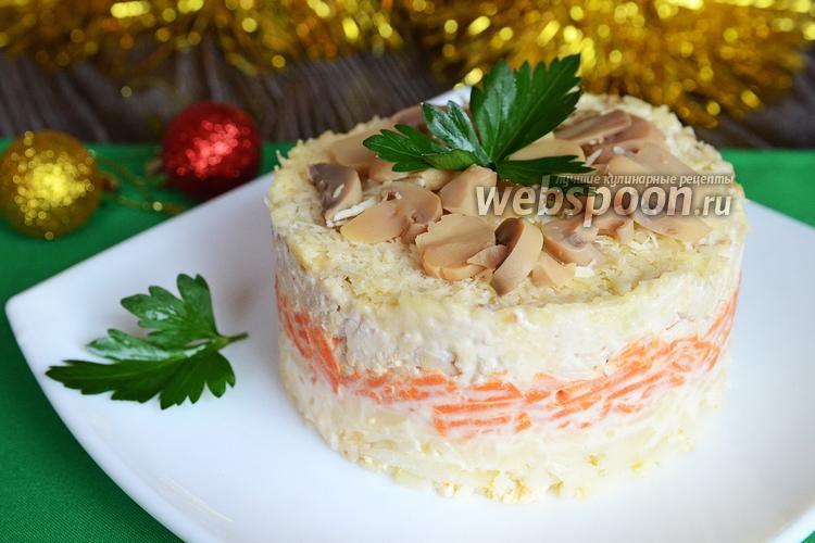 Рецепт Салат с индейкой, орехами и грибами