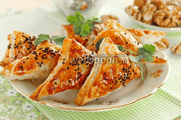 Рецепт Пирожки с фаршем и орехами
