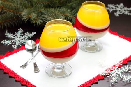 Бананово-апельсиновое желе