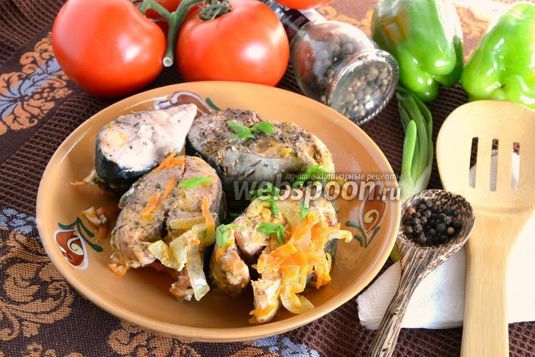 Рецепт Горбуша тушёная с морковью и луком
