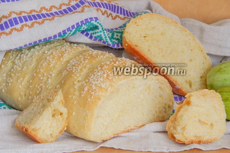 Рецепт Кабачковый хлеб с чесноком и кунжутом