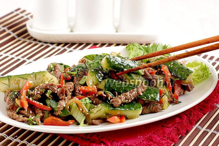 Рецепт Огурцы с мясом по-корейски