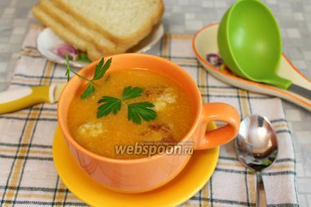 Овощной суп-пюре с мясными фрикадельками