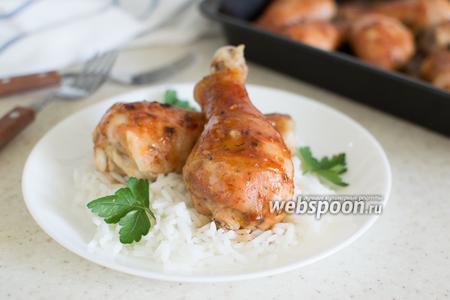 Куриные голени в глазури