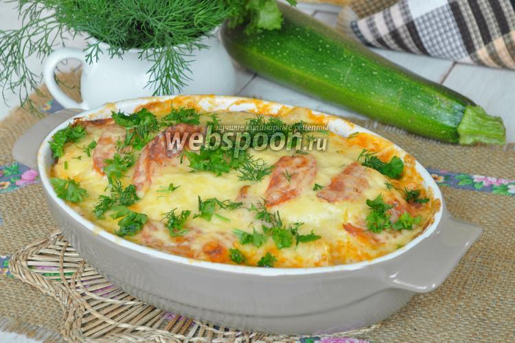 Рецепт Запеканка с цукини и фаршем по-итальянски