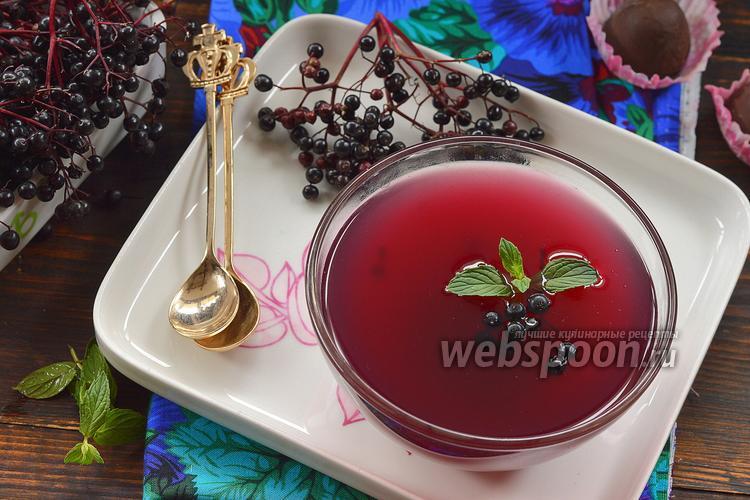 Рецепт Кисель из чёрной бузины