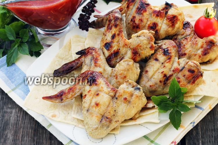 Фото Шашлык из курицы в кефире