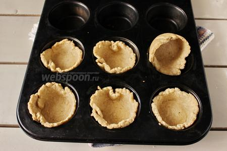 Корзиночки выпекаем в разогретой духовке (180°С), 10 минут.