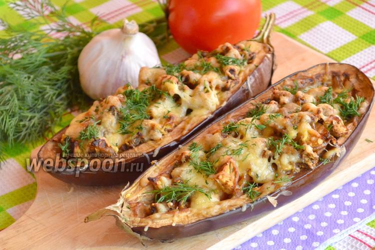 Рецепт Баклажаны с сосисками