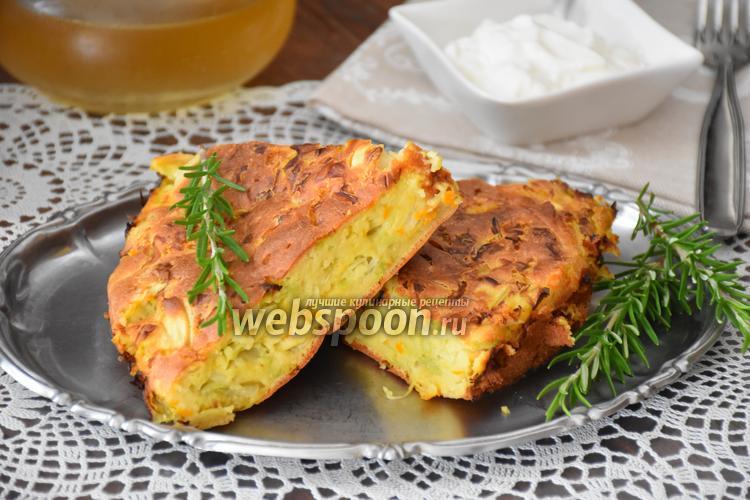 Фото Ленивый пирог с капустой