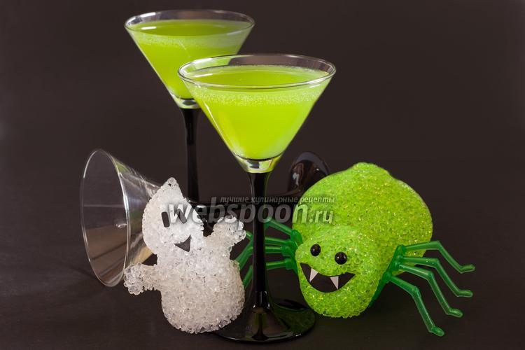 Рецепт Огуречный коктейль на Хэллоуин «Тоска зелёная»
