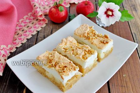 Кухен яблочно-йогуртовый