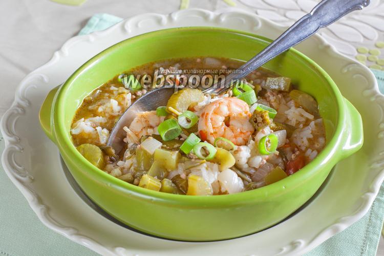 Рецепт Креольское гумбо с бамией и креветками