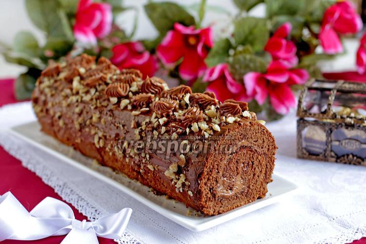 Рецепты шоколадного торта рулета
