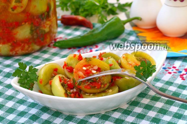 Рецепт Закуска из зелёных помидоров на зиму