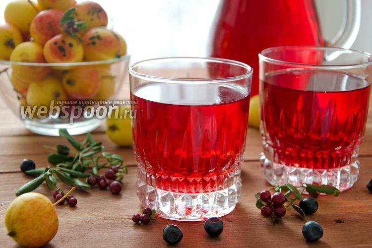 Рецепт Компот из лесных ягод и ранеток