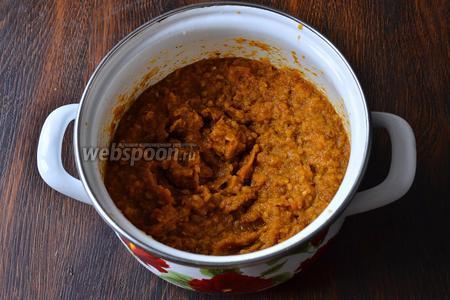Получится вот такой соус. Данный соус можно использовать как в мясных, так и рыбных блюдах.