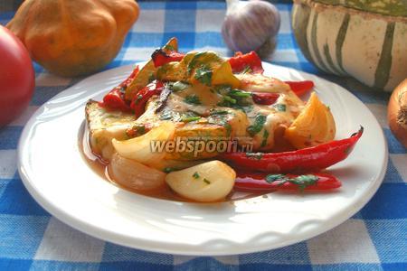 Овощи, запечённые с сыром