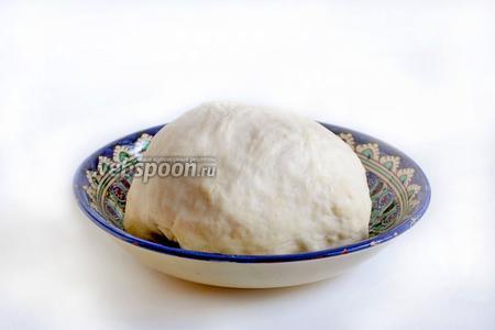 Из всех составляющих замесить мягкое, эластичное тесто. Возможно, понадобится чуть больше муки на подсыпку, но тесто должно получиться мягким и однородным. Оставить тесто под полотенцем, пока готовится начинка.
