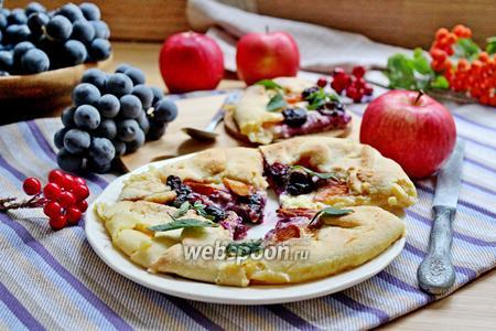 Мини-галеты с творогом и яблоком