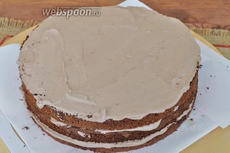 Этим кремом можно промазывать коржи для тортов.