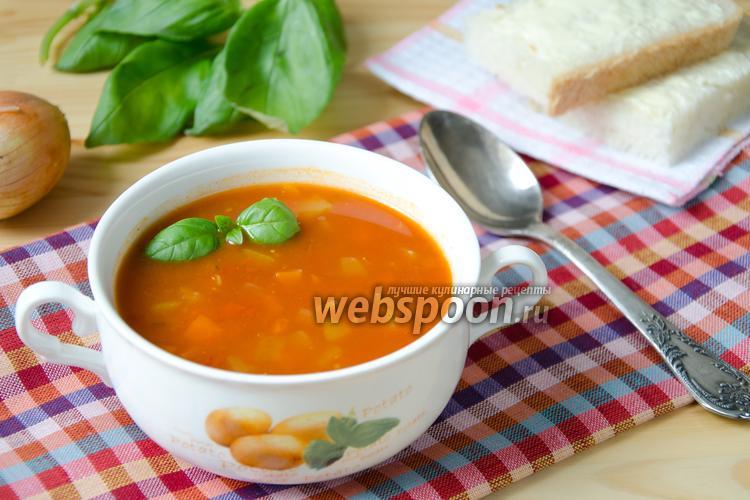 Фото Овощной томатный суп