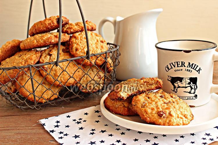 Фото Овсяное печенье с изюмом