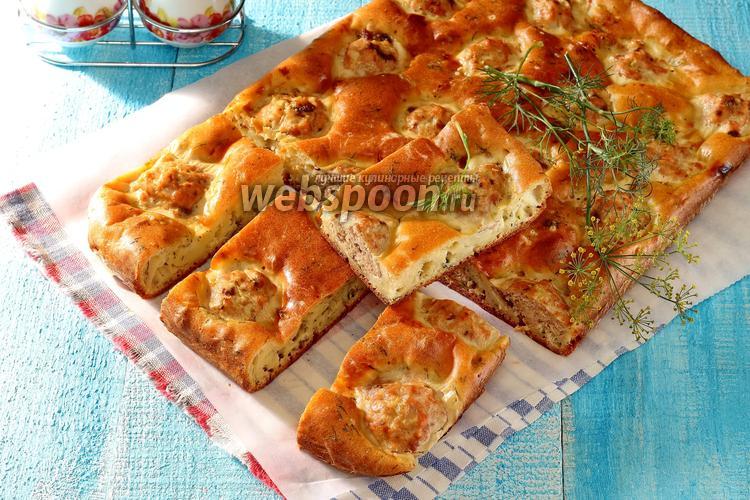 Рецепт Пирог с рыбными фрикадельками