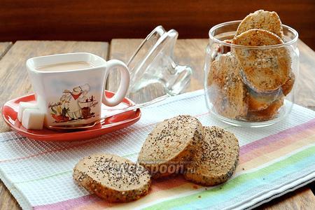 Печенье из гречневой муки с маком