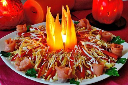 Салат «Ведьмин костёр» на Halloween