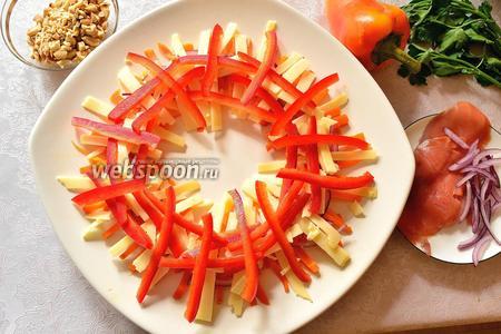 Следующими дровишками будет соломка из болгарского красного перца.