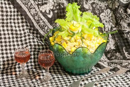 Салат Рассолс с курицей и скумбрией