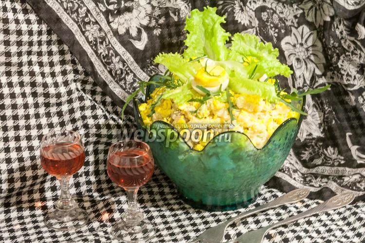 Рецепт Салат Рассолс с курицей и скумбрией