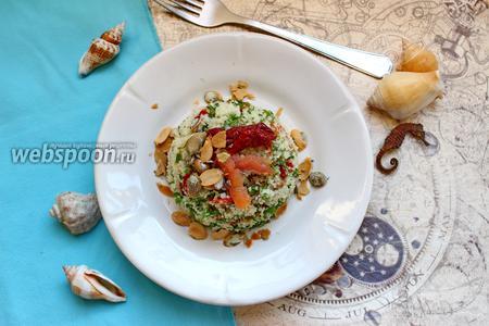 Салат с булгуром и рыбой