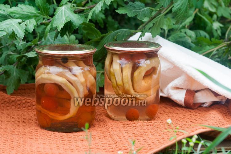 Рецепт Компот из кабачков и алычи