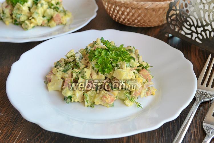 Рецепт Салат с курицей, морковью и зеленью