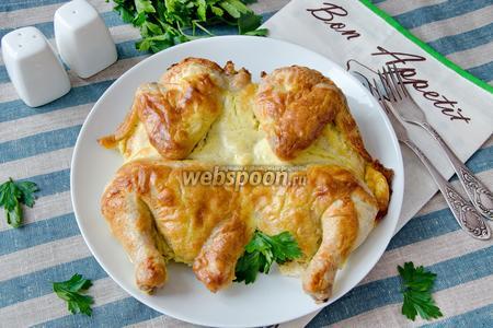 Цыплёнок в сметанно-чесночной шубке
