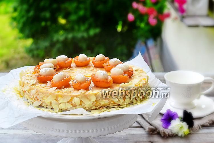 Фото Филадельфия-абрикосовый торт с марципаном