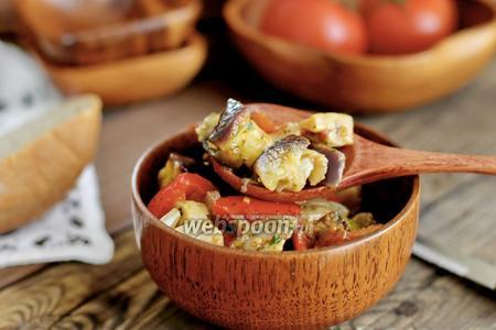 Закуска из баклажанов с шампиньонами