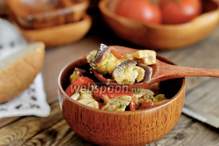 Рецепт Закуска из баклажанов с шампиньонами