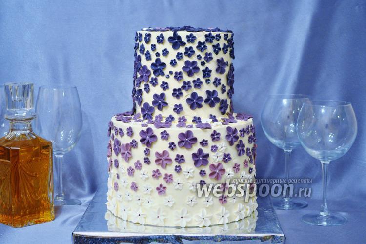 Фото Крем с белым шоколадом для тортов