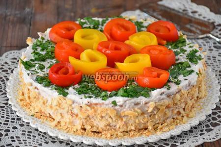 Торт овощной закусочный со сливочным кремом