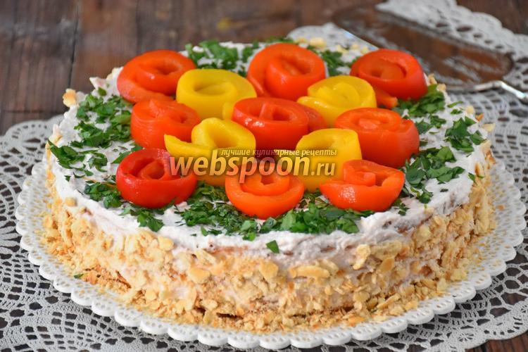 Фото Торт овощной закусочный со сливочным кремом