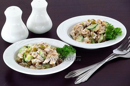 Салат куриный с грецкими орехами
