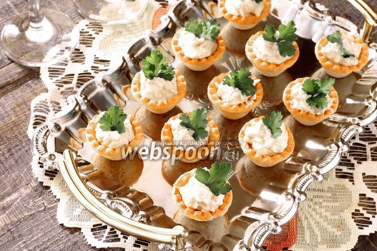 Рецепт Тарталетки с печенью трески