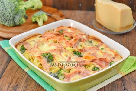Запеканка из лапши с овощами и сыром