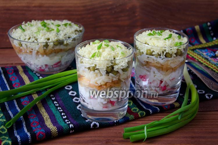 Рецепт Салат «Дамский каприз» с крабовыми палочками